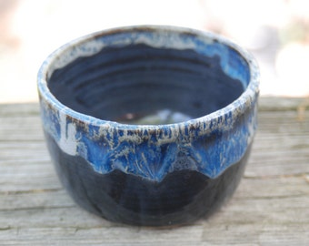 multi blue  bowl for prep work, serving or trinkets or serving, handmade B9