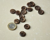 """5/8"""" (15mm) Coconut Round Buttons"""