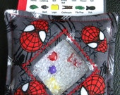 I Spy Bag - Mini with SEWN Word List and Detachable PICTURE LIST- Spiderman Face