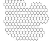 Mini Chicken Wire 6x6 Crafters Workshop Stencil (239S) - for cookies, cakes, cardmaking, mixed media, paper-arts, chalking, scrapbooks