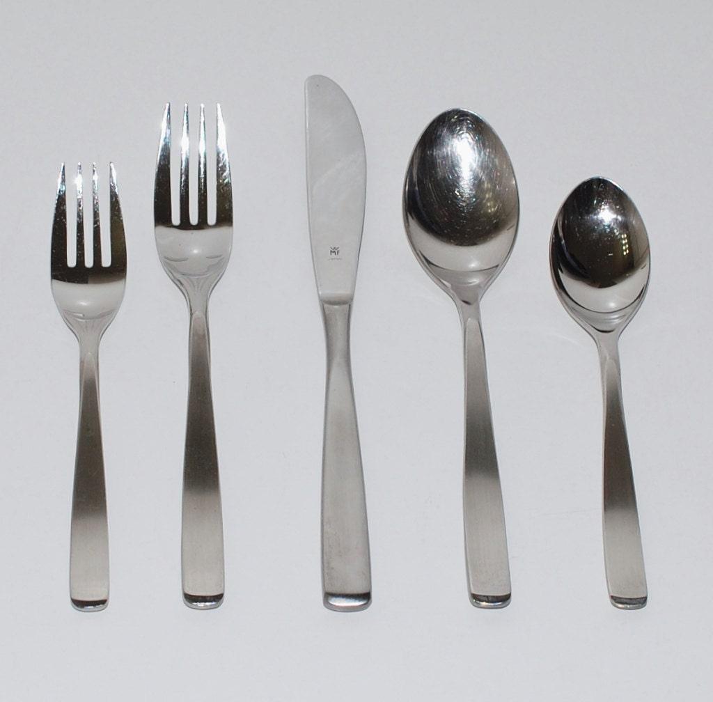 Wmf cromargan nortica flatware set of 27 circa 1980 - Wmf silverware ...
