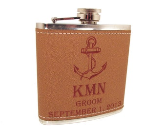 Personalized Anchor Flask - Perfect Gift for Men