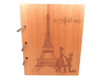Eiffel Tower Paris Wedding Guest Book or Photo Album