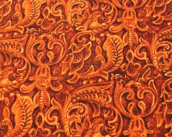 Faux Leather - Round-Up 2 for Blank Quilting - 1/2 Yard - Cotton Fabric / New Fabric / Sewing Supplies - LAST PIECE!