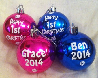 Personalised Baby's First Christmas Bauble Ornament