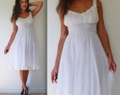 Vintage 50s 60s Dream Angel White Nightgown (size small, medium)