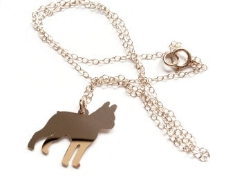 14k GF Custom Puppy Silhouette Necklace