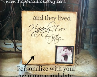 Wood Photo Plaque with Quotes, 12x12 inch,Personalized