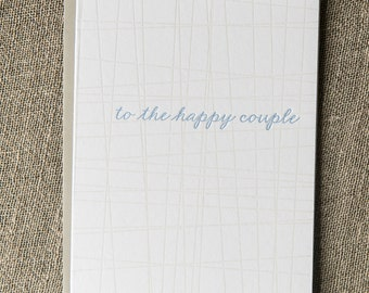 Letterpress Greeting Card - Wedding Engagement Happy Couple