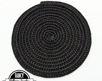 1 - Black - Straw - Fascinator - Hat Base - Hat Disk - Hat Foundation - Millinery