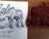 Moose, Cling mounted rubber stamp
