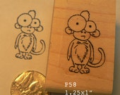 P58 Cute monkey rubber stamp