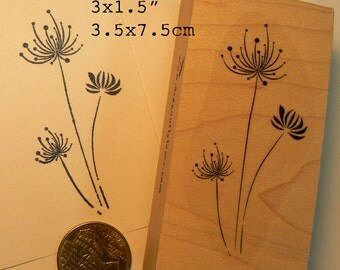 P57 abstract flowers rubber stamp