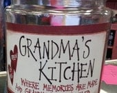 New DESIGN  Grandma's Kitchen ..Nana or Grandma or your specail name  Cookie Jars