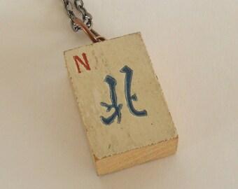 Vintage Mahjong Tile Necklace