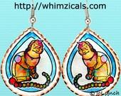 Whimsical Cat Earrings