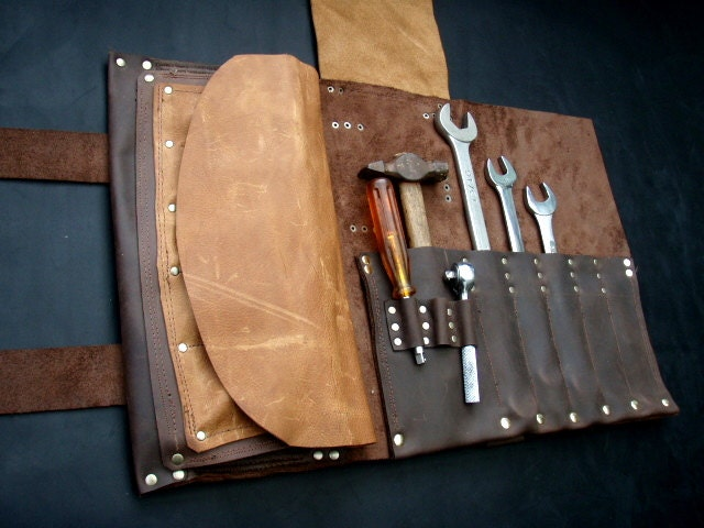 Leather Tool Roll Small Item Leather Tool Roll