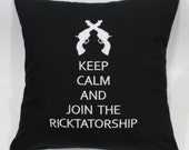 SALE  Ricktatorship Embroidered Pillow Case Cover