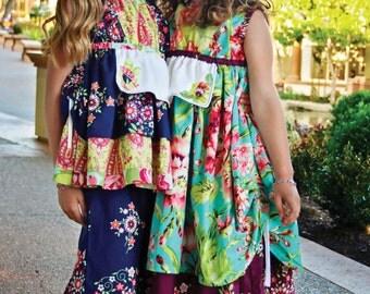 Miss Kitty Apron top & Dress Sewing Pattern