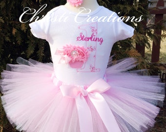 First Birthday Tutu Outfit, Baby Girl 1st Birthday Outfit, Shabby Chic First Birthday, Pink Tutu Outfit, Boho Birthday Party