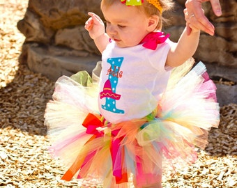 Baby Girl 1st Birthday Outfit - Cinco De Mayo - Sombrero - Birthday Tutu Outfit - Cake Smash Photo Prop