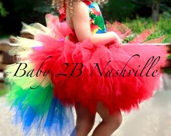Parrot Costume Tutu Skirt Costume Skirt Kids Costumes for Girls up to 6T Skirt Only