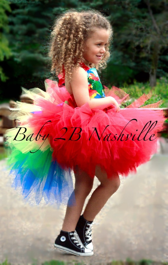 Parrot Costume Tutu Skirt Costume Skirt Kids Costumes for Girls up to 6T Skirt Only