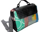 Saturday Patchwork Handbag with zip pocket