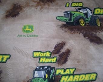 John Deere I Dig Dirt Blanket