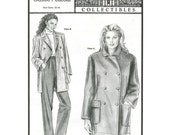 Misses Classic Peacoat / Double Breasted / Lined or Unlined - Ann Person Sewing Pattern Stretch & Sew 1052 - Size Bust 30-46 Uncut