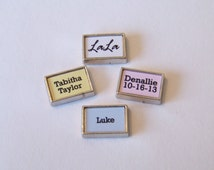 Custom Floating Name Charms to fit any brand of floating locket, available in script or plain, listing is for 1 charm
