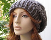 SALE SHOP CLOSING Oct 31...Hats 10 Dollars...Pewter Gray Crocheted Slouchy Winter Hat ...  Ski Hat Beret Tam Rasta Snood  ...  Ready-to-Ship