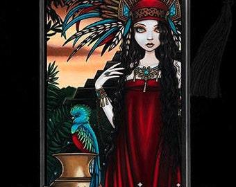 Toltec Jaguar Quetzal Tribal Priestess Zyanya BOOKMARK