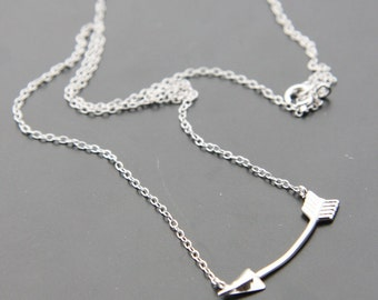 Sterling Silver Arrow Pendant on Sterling Silver Chain (N49)