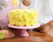 8 inch Wood cupcake or mini cake stand pedestal choose your color smash cake stand 1st birthday