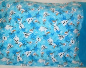 SALE ----- Olaf from Frozen Flannel Pillowcase