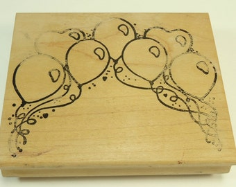 Balloon Arch Wood Mounted Rubber Stamp By Alias Smith