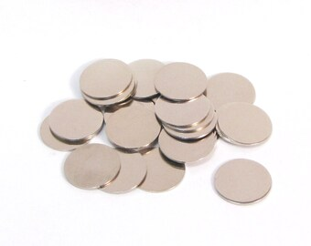 5/8 22gauge Nickel silver discs - 25 count - a great low cost way to stamp