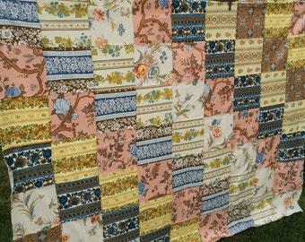 Vintage Machine Pieced Patchwork Quilt Top