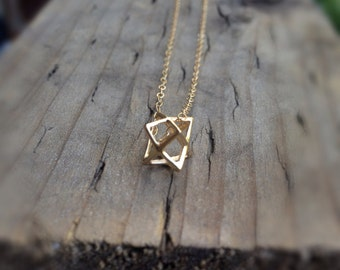 tiny star 3D gold necklace by SimaG