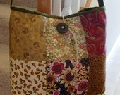 Earth Tones Homemade Patchwork Versatile Everyday Bag / Tote