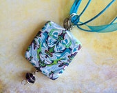 Blue and Purple Necklace / Pendant Polymer Clay