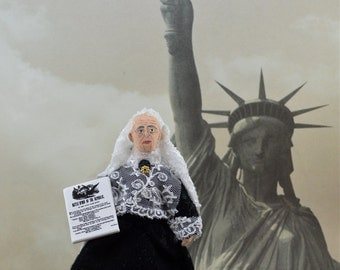American History Doll Miniature Julia Ward Howe Art Character