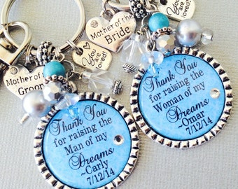MOTHER of the BRIDE gift / mother of the groom gift PERSONALIZED, wedding quote,thank you raising man of my dreams, woman of my dreams