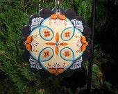 Rosemaled Garden Art