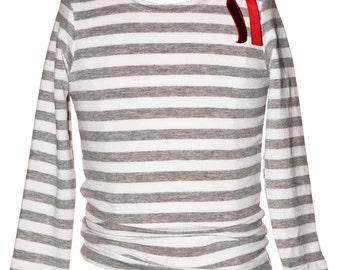 SAMPLE SALE - Emma T-shirt Smoke - size 12 months