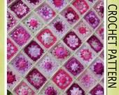 PDF Crochet Pattern - Heirloom Granny Scrap-ghan Crochet Blanket Pattern