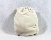 Final Clearance: Newborn / Extra Small Bamboo / Organic Cotton Fitted Cloth Diaper / Nappy, unbleached / ready to dye. Second