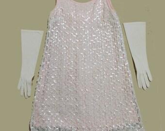 Mod Vintage iridescent sequins shift dress
