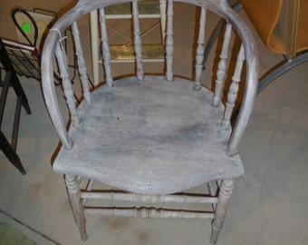 Antique Wooden Spindle Back   REDUCED
